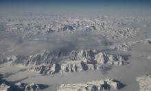The north-east coastline of Greenland, one of the world's two great ice sheets. Photograph: HANDOUT/AFP/Getty Images