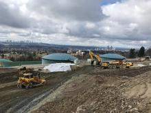 Construction on the Burnaby Terminal continues as Trans Mountain prepares to install 14 new storage tanks. Photo: Trans Mountain