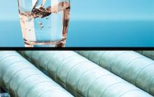 Glass of water and pipelines
