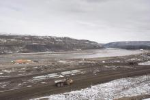 The Site C Dam location is seen along the Peace River in Fort St. John, B.C., Tuesday, April 18, 2017. THE CANADIAN PRESS/Jonathan Hayward