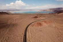 Lake Mead, the nation's largest freshwater reservoir, has been losing water because of epochal drought since 2000. Credit:Patrick T. Fallon/AFP via Getty Images