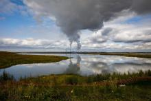 The Base Mine Lake with Syncrude's Mildred Lake Mine can be seen in the background north of Fort McMurray, Alta., on Thursday, Sept. 13, 2018. Photo by Codie McLachlan/Star Metro Edmonton