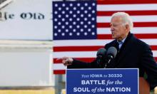 'Biden has turned leftwards since he was Obama's vice president. But there is a determination not to break the consensus by directly confronting the donor class.' Photograph: Brian Snyder/Reuters