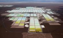 'The transition to a new energy system is often understood as a conflict between incumbent fossil fuel firms and proponents of climate action.' A lithium mine on Chile's Atacama salt flat. Photograph: Iván Alvarado/Reuters