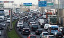 It is still often quicker to travel into city centres by car despite growing congestion. Photograph: Charles Platiau/Reuters