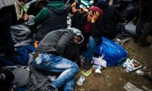 Refugees at the Greek-Macedonian border in 2016. 'In the 21st century rising resource consumption has matched or exceeded the rate of economic growth.' Photograph: Dimitar Dilkoff/AFP/Getty Images