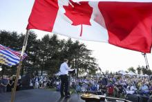 Conservative Leader Andrew Scheer speaks to a crowd in British Columbia on July 28, 2019. Photo by CPC