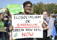 Ecosocialism or Barbarism - Photo via Stephen Melkisethian.