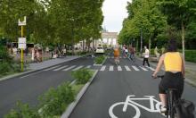 An artist's rendering of a bike-friendly road near the Brandenburg Gate. Photograph: Tom Meiser/Timo Schmid/Vanmoof