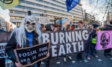 An Extinction Rebellion protest outside the Australian High Commission in London demonstrates against the attitude of the Australian government to climate change. Photograph: Guy Bell/Rex/Shutterstock