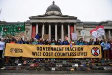 Doctors for Extinction Rebellion in London, on October 12 2019.  Credit: Daniel Leal-Olivas Getty Images