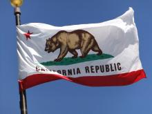 California Flag - A growing body of research shows there's a flip side to the megadroughts California farmers face: megafloods. Photo:Flickr/Martin Jambon
