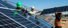 Stock photo of solar power installation from Unsplash