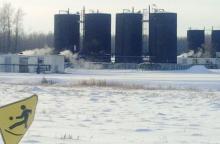 Peace River storage tanks