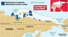 Arctic methane plume