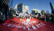 Quebec demonstration against austerity