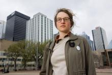 Hannah Gelderman is an organizer with Climate Justice Edmonton - a group that's at the forefront of anti-pipeline activism in Edmonton. Codie McLachlan for StarMetro