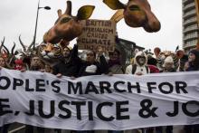 People's climate march Dec 2015 © Dominique Z Barron