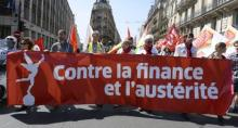 Anti-austerity protests in France April 2015