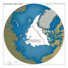 U.S. officials are pushing for a moratorium on commercial fishing in the international waters of the Arctic Ocean. (Pew Charitable Trust International Arctic Program / February 22, 2014)