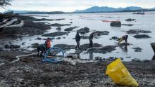 The Heiltsuk Nation, which relies on beaches near the tug accident site, has called the situation a disaster. (April Bencze/Heiltsuk Nation)