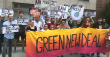 Demonstrators gathered in New York as former Vice President Joe Biden attended a high-dollar fundraiser co-hosted by the co-founder of a natural gas company on September 5, 2019. (Photo: Food & Water Action/Twitter)