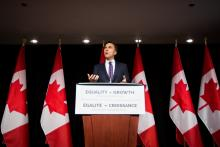 Finance Minister Bill Morneau introduces Budget 2018 during a press conference in Ottawa on February 27, 2018. Photo by Alex Tétreault