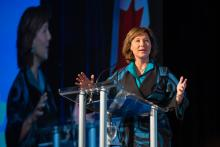 Christy Clark, the premier of British Columbia, in Vancouver last year. Credit Ruth Fremson/The New York Times