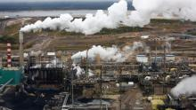 The processing facility at the Suncor oilsands operations near Fort McMurray, Alta. A new report from Oil Change International finds that G20 countries are spending $452 billion US a year subsidizing their fossil fuel industries. (Todd Korol/Reuters)