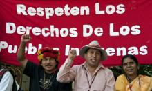Protest at UN Climate Conference, Cancun, Mexico 2010.