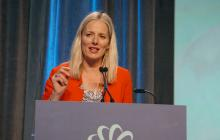 Environment and Climate Change Minister Catherine McKenna speaks at the 2016 Globe Series in Vancouver, B.C. on Wed. March 2, 2016. Photo by Elizabeth McSheffrey.