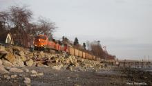 Coal Train along BC coast