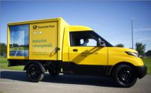 Germany's Post Office (Deutsche Post) developed and began manufacturing Streetscooter battery electric vans in 2016 to replace its 70,000 vehicle fleet.