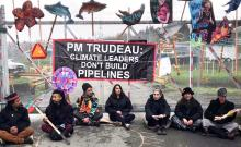 protest at Kinder Morgan Gates