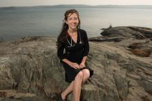 Emergency physician Dr. Courtney Howard, Board President of the Canadian Association of Physicians, in Yellowknife. Photograph by Pat Kane
