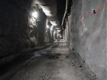 FILE PHOTO: Drainage tunnel on the south bank of contstruction on the Site C project of B.C. Hydro.B.C. HYDRO/PNG