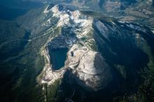 "According to the Alberta government, mines like this one in the southwestern corner of the province wouldn't be classified as mountaintop-removal mines because they don't ""completely"" remove the top of the mountain. Photo: Callum Gunn"