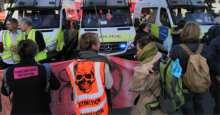 Activists gathered under the banner Extinction Rebellion in London on Wednesday to issue their Declaration of Rebellion against the U.K. government's climate inaction. (Photo: Extinction Rebellion)