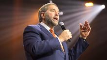 NDP Leader Tom Mulcair did not endorse the Leap Manifesto at the time of its release but said he welcomed new ideas and understood it reflected a desire for change. (Ryan Remiorz/Canadian Press)