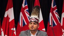 Ontario Regional Chief Isadore Day says First Nations have become reliant on winter roads, which are suffering due to warm weather patterns associated with climate change. (Canadian Press/Aaron Vincent Elkaim)
