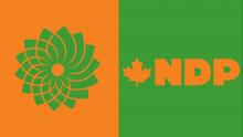 Green and NDP Logos - Photo via Change.org.