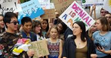 Greta Thunberg joined dozens of youth climate activists for a rally outside the White House on Friday, September 13, 2019. (Photo: Defend Our Future/Twitter)