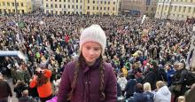 Greta Thunberg, a 15-year-old activist from Sweden, addressed a crowd at what campaigners say was Finland's largest ever climate demonstration on Saturday. (Photo: Svante Thunberg/Twitter)