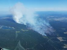 Few media stories mentioned the demonstrable connection between the climate crisis and increasing wildfire activity in BC last summer, even though it was one of the major reasons why that season was the worst on record. Photo via the BC Wildfire Service.