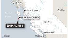 Haida Gwaii ship adrift