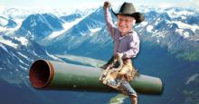 Harper riding pipeline