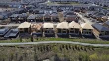 New homes are built in a housing construction development in the west end of Ottawa on Thursday, May 6, 2021. Photo by: The Canadian Press/Sean Kilpatrick