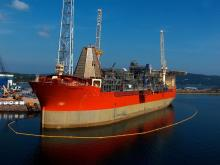 Husky Energy's SeaRose FPSO at Marystown, Newfoundland and Labrador.Courtesy Husky Energy