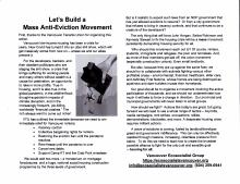 Let's Build a  Mass Anti-Eviction Movement - Leaflet