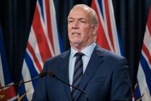 Premier John Horgan confirmed today that construction of the Site C dam will once again go ahead. 'I know there are a lot of British Columbians who have never accepted this as an appropriate way for BC Hydro to go,' he said. Photo via the BC government.